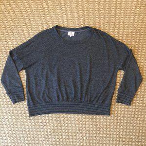 Sundry Gray Crew Neck Sweatshirt Striped 0